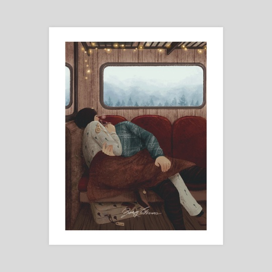 Train home by Zoey Chuan