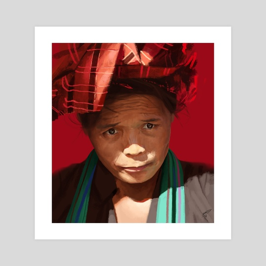 Peruvian woman by Thomas BIGNON