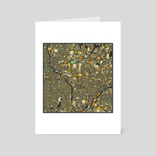 Twin Cities Map 2 - Art Card by Jazzberry Blue