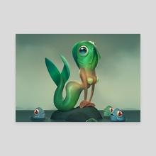 Mermaid - Canvas by Max Grecke
