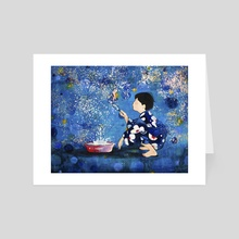 Japanese Boy  - Art Card by PimpampumArt