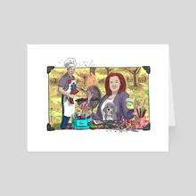 Scrappin' and Girllin' - Art Card by sherman kew