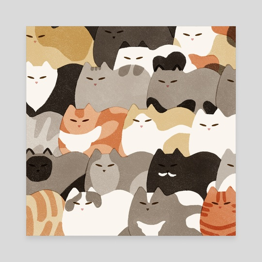 Monday Cats by Jeannie Phan