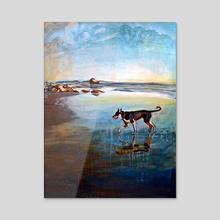 Beach Dog - Acrylic by birds