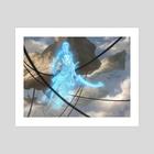 """Ghostly Sentinel - Art Print by Mike """"Daarken"""" Lim"""