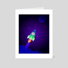 To the Moon  - Art Card by The Space Creator