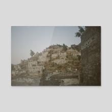 Karakoy Village on Hill - Acrylic by Louis Rouse