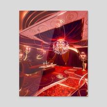 Red Room - Acrylic by Blake Kathryn