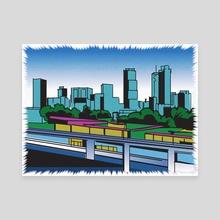 Downtown Atlanta - Canvas by James Burns