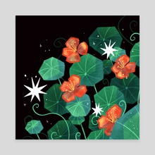Nasturtiums - Canvas by Bee
