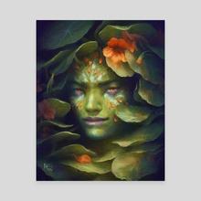 Nasturtium Spirit - Canvas by Harkalé Linaï