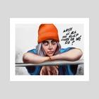 Billie Eilish - Art Print by Francesca Brighty