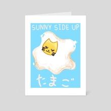 Egg cat  - Art Card by Taylor  Poppy