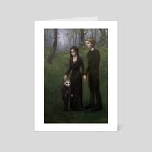 Family Portrait - Art Card by Jesse Hitchens