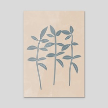 Boho Leaves, Botanical Print - Acrylic by Ariani Anwar