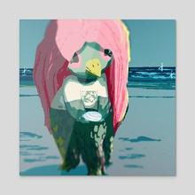 Amabie - Acrylic by Meg Metzger