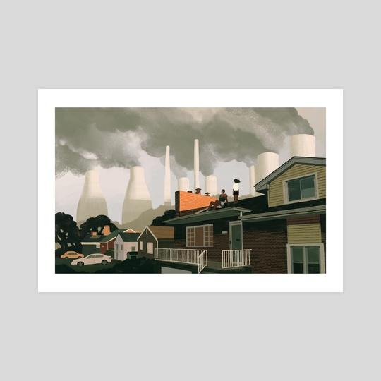 smokestacks by Angelica Alzona