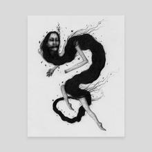 Blackwater Dragon - Canvas by Ryan Nieves