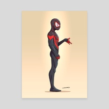 Miles Morales - Canvas by Johnny Lighthands
