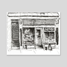 Coffee shop of Montreal - Acrylic by Léa  Weilbrenner