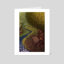 Calm shrine - Art Card by Ajelo Draws