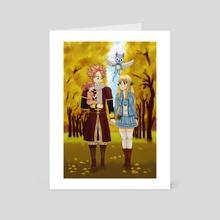 Peaceful walk - Art Card by Fairy Light