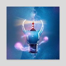 Light bulb - Acrylic by Jared Sandoval
