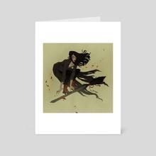 Broom Ride - Art Card by Abigail Larson