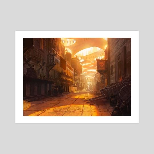 Tin Street Market by Noah Bradley