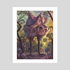 The Hut on Chicken Legs - Art Print by Laura Bifano