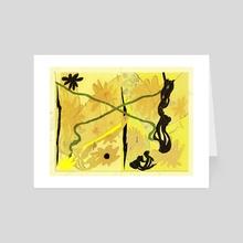 drenched - Art Card by Marisha Lozada