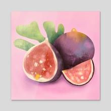 Figs - Acrylic by Debbie Sajnani