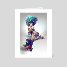 Roller Girl - Art Card by Zork Marinero