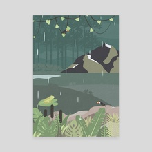 Jungle Rain - Canvas by Imagonarium