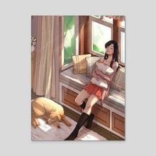 Morning at Home - Acrylic by Azumi