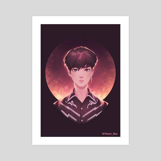 BTS FAKE LOVE_Jin by Yimei Zhu