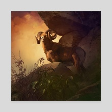 Bighorn - Canvas by Dominick Saponaro
