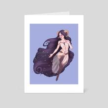 Aries Zodiac Sign - Purple - Art Card by Serena Archetti
