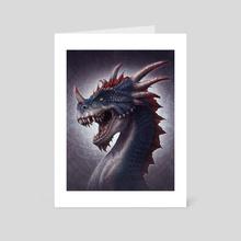 Dracosaurus Rex - Art Card by Kerem Beyit