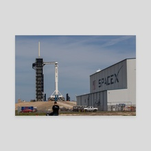 SpaceX Crew Demo 1 - On the Pad 1 - Canvas by Jon Galed