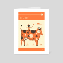 C is for COW - Art Card by Jazzberry Blue