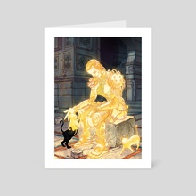 Giving Light - Art Card by Neeraj Menon