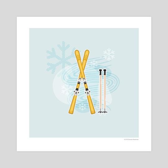 Frozen Paradise (Skis) by Amanda Weedmark
