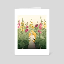 Hollyhocks - Art Card by Chiara Cuccato