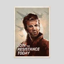 Join The Resistance Today Again! - Canvas by Gin