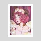 Pink Nymph  - Art Print by Jenna Jurgelewicz