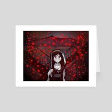 Crimson pixel snow - Art Card by Cotton Valent