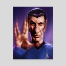 Mr. Spock - Canvas by Rafael Rivera