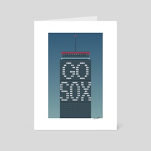 The Pru (night, Red Sox) - Art Card by Chris Cerrato