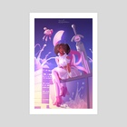 Doom and Other Magical Girl Activities - Art Print by Frae's Fortunes